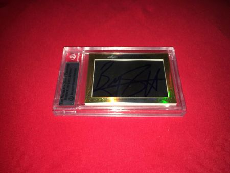 Magic Johnson and Byron Scott 2013 Leaf Masterpiece Cut Signature certified autograph card 1/1 JSA