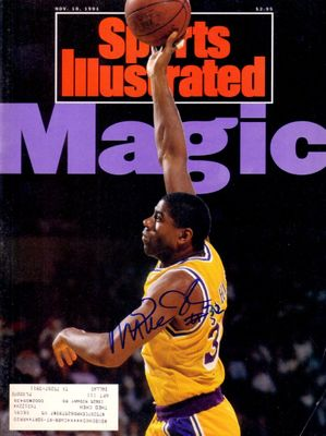 Magic Johnson autographed Los Angeles Lakers 1991 Sports Illustrated