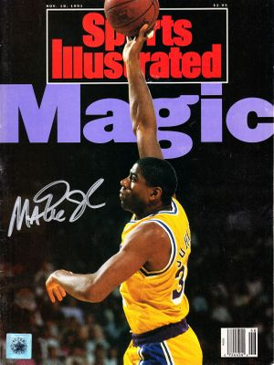Magic Johnson autographed Los Angeles Lakers 1991 Sports Illustrated (Superstar Greetings)
