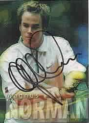 Magnus Norman autographed 2000 ATP Tour tennis card