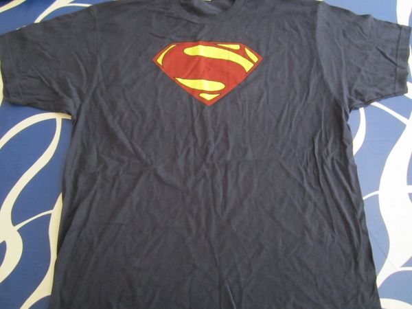 Man of Steel movie 2012 Comic-Con promotional navy blue T-shirt NEW