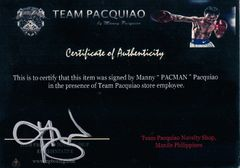 Manny Pacquiao autographed 8x10 boxing photo inscribed Pacman