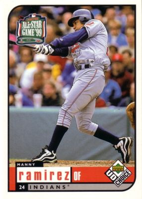 Manny Ramirez Cleveland Indians 1999 Upper Deck All-Star Game jumbo card
