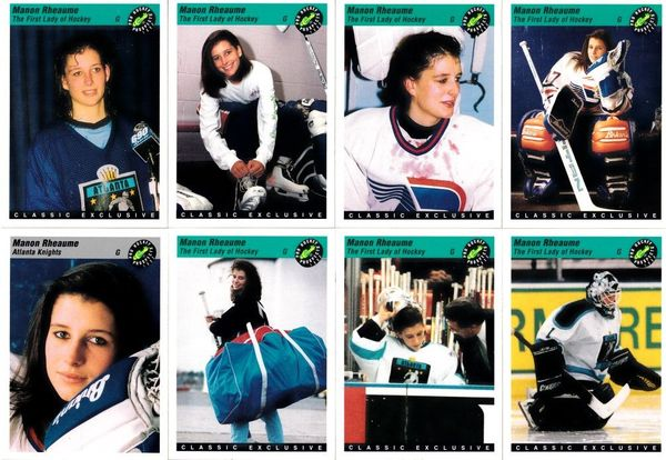 Manon Rheaume 1993 Classic Pro Hockey Prospects 8 card subset