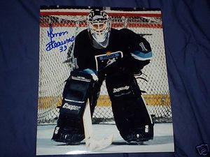 Manon Rheaume autographed 8x10 Atlanta Knights action photo