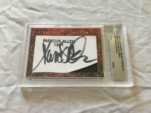 Marcus Allen and Charles White 2018 Leaf Masterpiece Cut Signature certified autograph card 1/1 JSA