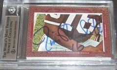 Marcus Allen & Jim Plunkett certified autograph 2012 Leaf Executive Masterpiece Dual Cut Signature card #1/1