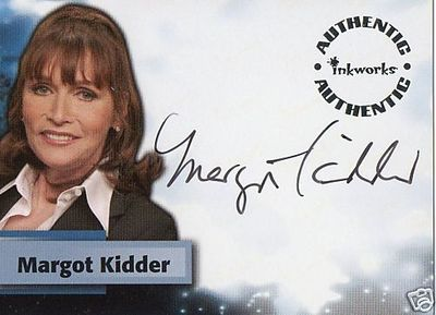 Margot Kidder Smallville certified autographed Inkworks card A28