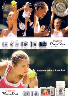Maria Sharapova set of 2 2005 Canon tennis postcards