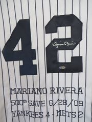 Mariano Rivera autographed 2009 New York Yankees authentic game model 500th Save jersey (Steiner)