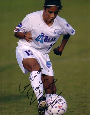 Maribel Dominguez autographed WUSA Atlanta Beat 8x10 photo