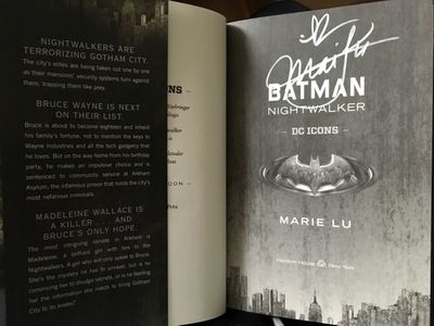 Marie Lu autographed Batman Nightwalker first edition hardcover book