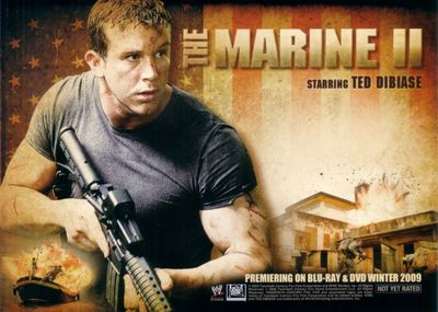 Marine 2 movie 2009 Comic-Con Fox 5x7 promo card (Ted DiBiase Jr.)