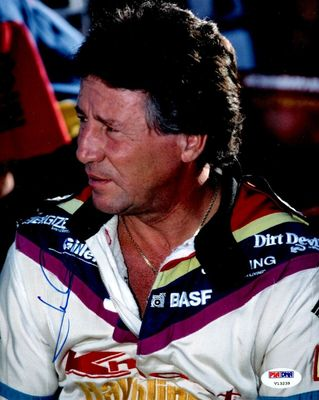 Mario Andretti autographed 8x10 portrait photo (PSA/DNA)