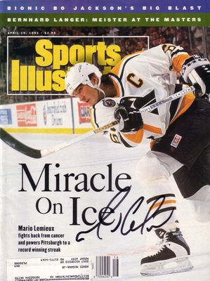 Mario Lemieux autographed Pittsburgh Penguins 1993 Sports Illustrated