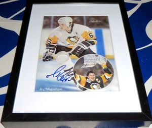 Mario Lemieux autographed Pittsburgh Penguins art print matted & framed