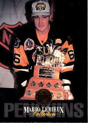 Mario Lemieux Collection Pittsburgh Penguins 1993-94 Leaf NHL Hockey insert card #6