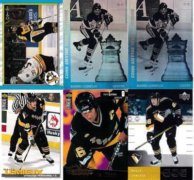 Mario Lemieux Pittsburgh Penguins 6 card lot 1996-97 Collector's Choice Crash the Game Gold 2000-01 Upper Deck Ice