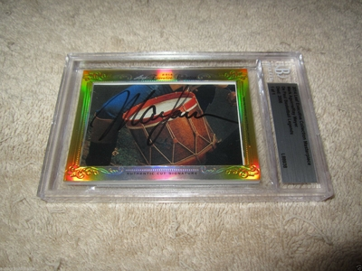 Mark Aguirre and Ray Meyer 2014 Leaf Masterpiece Cut Signature certified autograph card 1/1 DePaul
