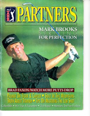 Mark Brooks autographed 1997 PGA Tour Partners magazine