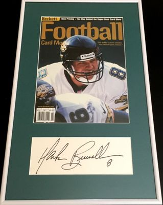 Mark Brunell autograph framed with Jacksonville Jaguars Beckett Football magazine cover