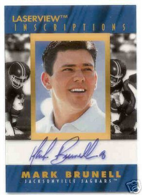 Mark Brunell certified autograph Jacksonville Jaguars 1996 Pinnacle Inscriptions card