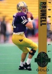 Mark Brunell Washington Huskies 1993 Classic 4-Sport Gold card (1 of 3900)