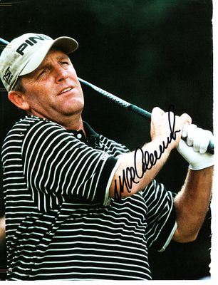 Mark Calcavecchia autographed full page golf magazine photo
