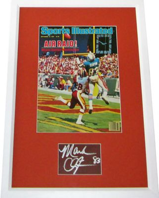 Mark Clayton autograph matted & framed with Miami Dolphins 1984 Sports Illustrated cover