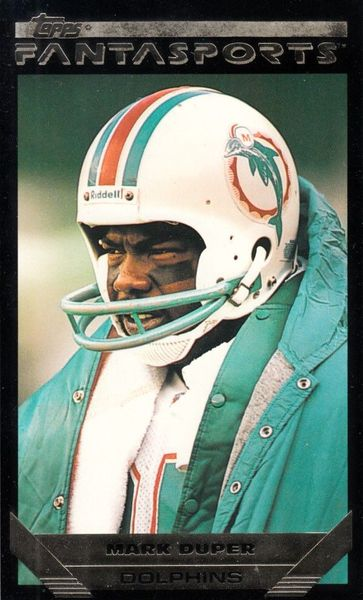 Mark Duper Miami Dolphins 1993 Topps Fantasports card