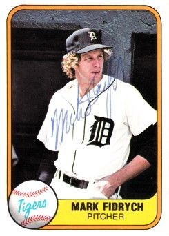 Mark Fidrych autographed Detroit Tigers 1981 Fleer card