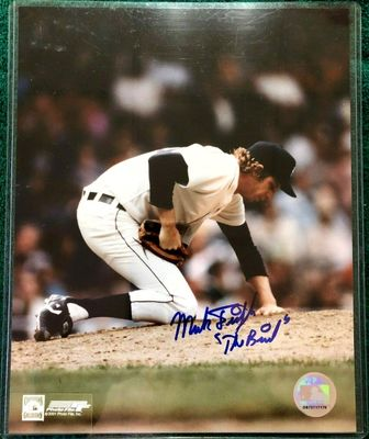 Mark Fidrych autographed Detroit Tigers 8x10 photo inscribed The Bird