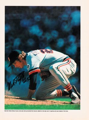 Mark Fidrych autographed baseball magazine photo inscribed The Bird