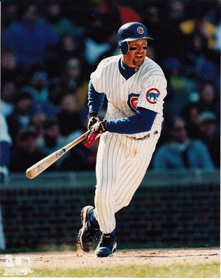 Mark Grace Chicago Cubs 8x10 action photo