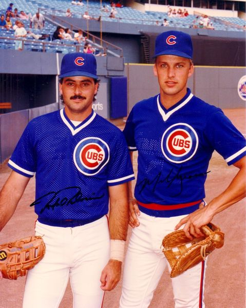 Mark Grace & Rafael Palmeiro autographed Chicago Cubs 8x10 photo