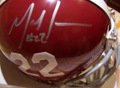 Mark Ingram autographed Alabama Crimson Tide mini helmet