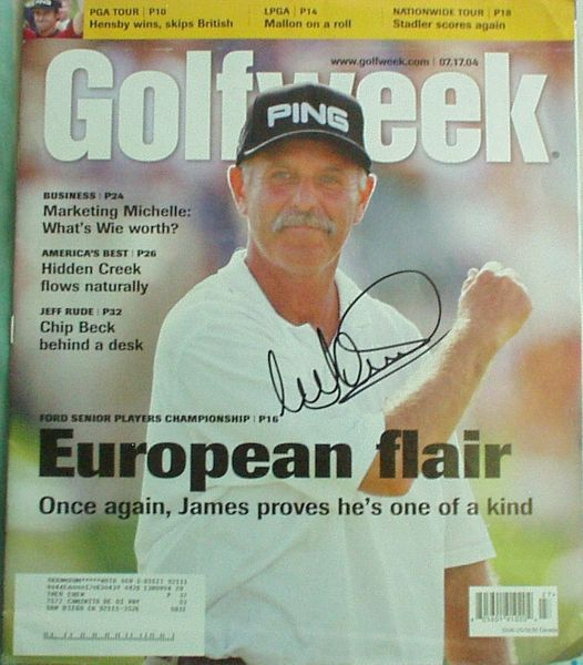 Mark James autographed 2004 Golfweek magazine