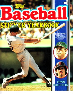 Mark McGwire Oakland A's 1988 Topps sticker album or yearbook