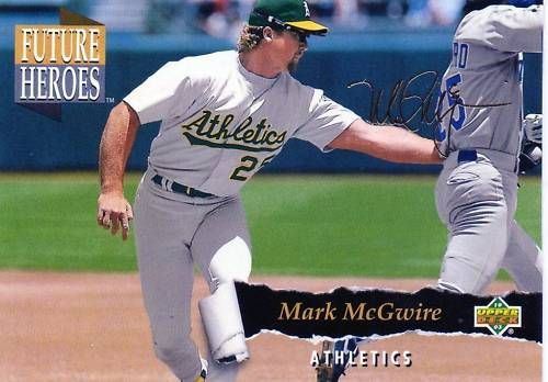 Mark McGwire Oakland A's 1993 Upper Deck Future Heroes insert card