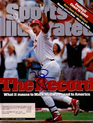 Mark McGwire autographed St. Louis Cardinals Home Run Record 1998 Sports Illustrated