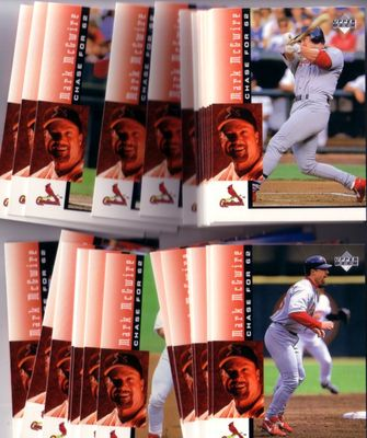Mark McGwire St. Louis Cardinals Chase for 62 1998 Upper Deck 30 card set