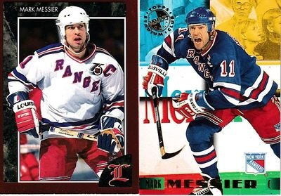 Mark Messier New York Rangers 1992 Legends and 1995 Stadium Club Members Only NHL Hockey cards