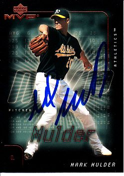 Mark Mulder autographed Oakland A's 2002 Upper Deck card