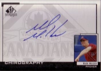 Mark Mulder certified autograph SP Top Prospects card