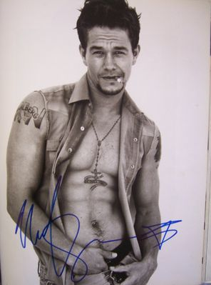 Mark Wahlberg autographed 11x14 Rolling Stone book photo