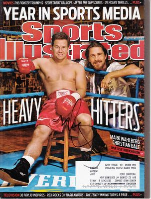 Mark Wahlberg autographed The Fighter 2010 Sports Illustrated