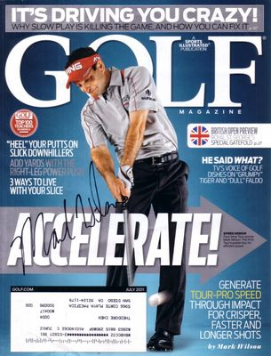 Mark Wilson autographed 2011 Golf Magazine cover