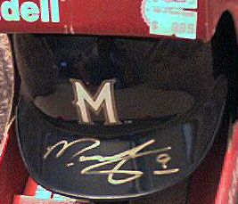 Marquis Grissom autographed Milwaukee Brewers mini helmet