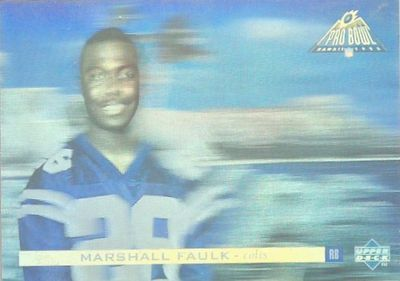 Marshall Faulk 1995 Upper Deck Pro Bowl promo hologram card #PB95