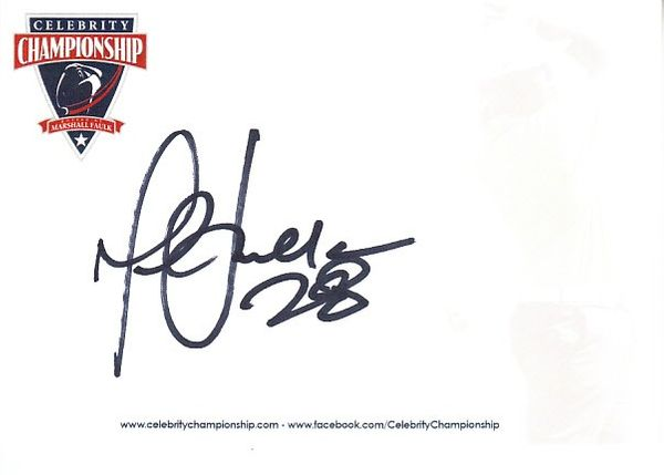 Marshall Faulk autographed 4x6 inch signature card